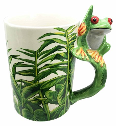 RoomClip商品情報 - Tropical Rainforest Green Tree Frog Toad 12oz Ceramic Mug Coffee Cup Home & Kitchen Decor Accessory by Gifts & Decors