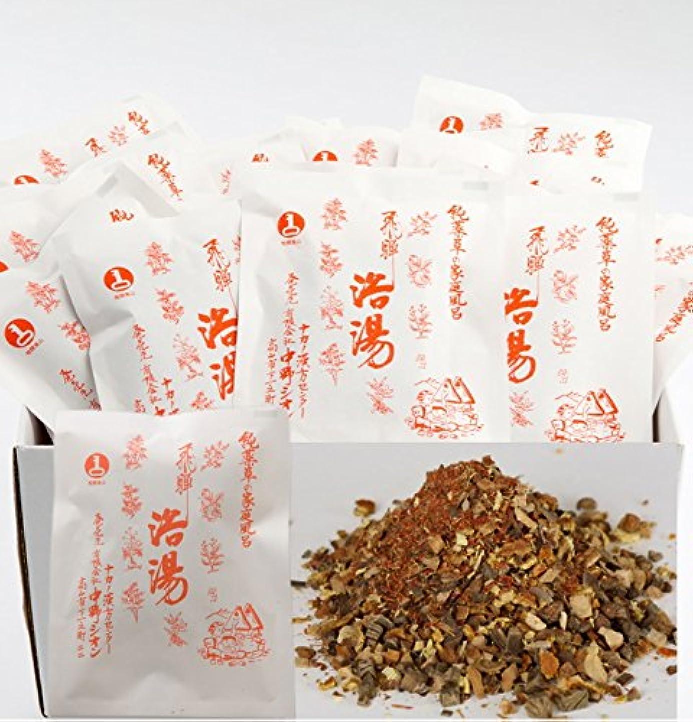 不純グラフィックタオル浴湯 飛騨浴湯 ~純薬草のお風呂~ 15袋(15包)セット
