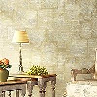 Guodimao プレーンソリッドカラー不織アメリカシンプルモダンモダン三次元リビングルーム暖かい寝室の壁紙背景壁紙 (Color : Khaki, サイズ : 0.53*10m)