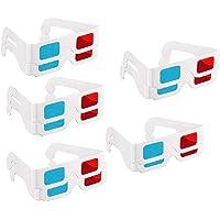 3Dメガネ、映画装飾用の10組の紙の赤と青のステレオ眼鏡