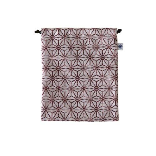 米織小紋・巾着袋(大) (麻の葉)