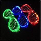 YIGO 楽しい 光る サングラス LEDメガネ LED サングラス クリスマス パーティー 仮装 コンサート 発表会 3個セット