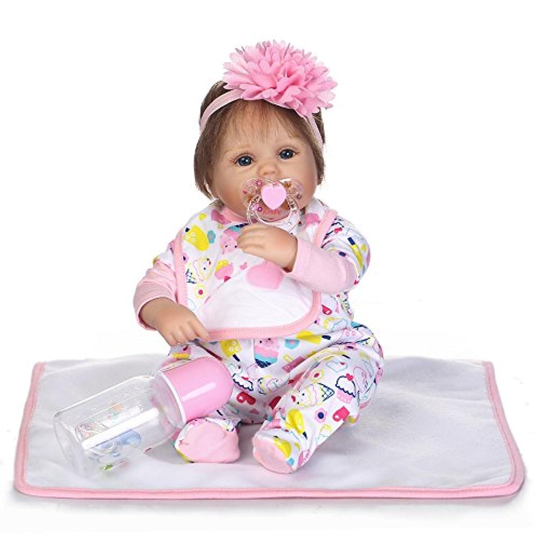 SanyDoll Rebornベビー人形ソフトSilicone 18インチ45 cm磁気Lovely Lifelikeキュートかわいいベビーアイスクリームセット人形