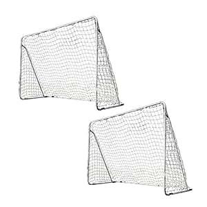 室内 屋外兼用 フットサルゴール 2台セット 3m×2m 公式サイズ キャリーバッグ&土嚢袋付き ESFG-001