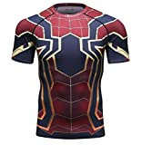 G.P.FitnessGear スポーツウェア アイアンスパイダーマン ドライストレッチインナー 半袖 Tシャツ メンズ ⑯