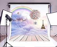 写真撮影背景ビニール5x 7ftシームレスな様々なパターンアウトドアバルーン美しいロマンチック特別なBackdrop Studio小道具 7x5ft BTCJ02066HD