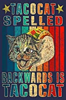 Tacocat Spelled Backward Is Tacocat: Journal Gift for Cats & Taco Lover