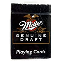 HoyleヴィンテージMiller Genuine Draft Poker Playing Cards Deck