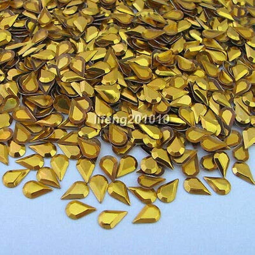 余韻消えるアドバンテージFidgetGear 1000PCS 3Dは合金の釘の芸術のラインストーンの金属の携帯電話の装飾のスタッドを落とします ゴールド