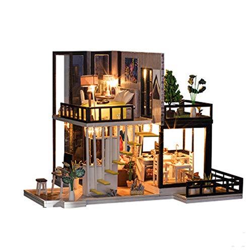 Aliciga 別荘 ドールハウス DIY 3D 木製 搭載...