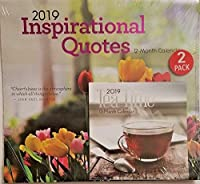 Inspirational Quotes Tea TIME 2019 Wall & Desk Calendar 2 Pack Set 12 X 11 [並行輸入品]