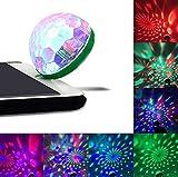 LED電球 Hosam クリスマス パーティー 音楽ライト リズムの流れに色を変換 ディスコボール ディスコ ダンス 携帯用 パーティー用品 (iPhone対応)