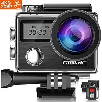 Campark X20 アクションカメラ 4K高画質 2000万画素 HDMI出力 30M防水 WiFi搭載 170度広角レンズ