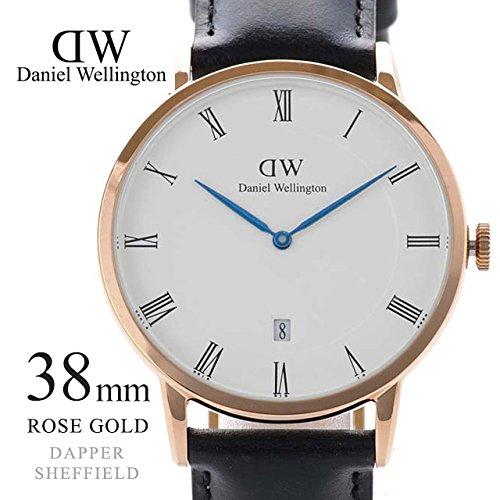 (ダニエルウェリントン)Daniel Wellington 38mm 1101DW DAPPER ダッパー シェフィールド ブラック×ローズゴールド 腕時計 メンズ/レディース [並行輸入品]