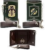 Wallet - Star Wars - Boba Fett Metal Badge w/Chain New Licensed mw1ppdstw