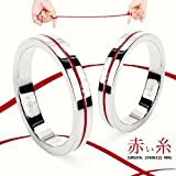 【赤い糸 /レッドライン】 サージカルステンレスリング/ メンズ レディース ☆プレゼントに♪