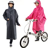 大きいつばの自転車 レインコート ポンチョ レインウェア レインポンチョ 袖あり レディース メンズ ポンチョ型 おしゃれ バイク 雨具 カッパ 激安 通販 安い ブルー レッド ロング 自転車用 クリアバイザー つば広 (pink)