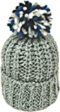 [シュノン] ShunoN 日本製 ミックス ボンボン ニット帽 ウール100% 14色 キッズ サイズ 1.ミントxブルーK