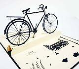 Happiest 誕生日 バースデー [ 立体 ] お祝い ホビー グリーティングカード 3D ポップアップ メッセージカード (サイクル・自転車)