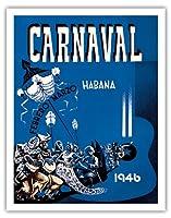 カーニバル・デ・ラ・ハバナ1946 - ハバナ、キューバ - 2月3月 - ビンテージな広告ポスター によって作成された エンリク・キャラヴィア・モンテネグロ c.1946 - アートポスター - 28cm x 36cm