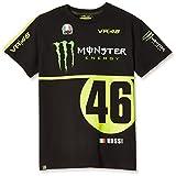 ヤマハ(YAMAHA) VR46 バレンティーノ ロッシ Tシャツ モンスターエナジー&46ロゴ ブラック Sサイズ Q5D-YSK-194-00W