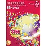 3 HK 3G International Roaming Rechargeable SIM Card