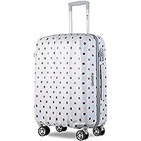 【旅箱_TAVIVAKO】アウトレット価格 スーツケース プリント(3サイズ7プリント) 超軽量 ダブルキャスター 8輪 TSA ロック ハードキャリー 2重強化ファスナー キャリーバッグ キャリーケース