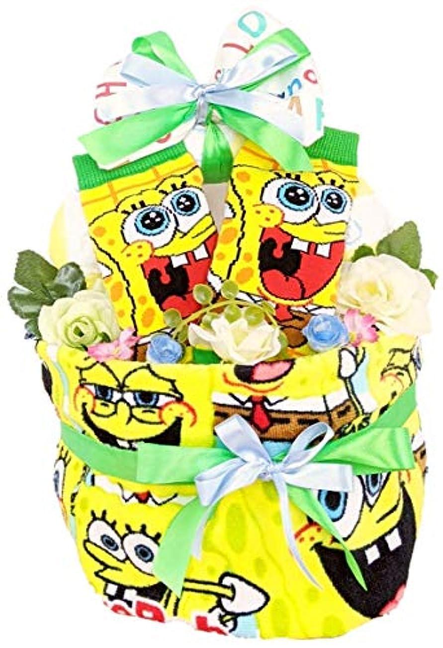 競う切断する賢いスポンジボブ アーチ 出産祝い おむつケーキ 男の子 女の子
