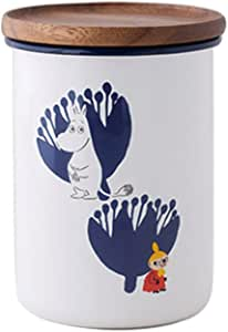 [ハニーウェア] Honey Ware ムーミン&フラワーシリーズ 保存容器 琺瑯 9cmキャニスター L MTA-9CNL.A 富士ホーロー