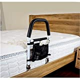 ODOLAND Bed Rails for Elderly Hospital Bed Assist Bar with Storage Pocket for Elderly Adults, Handle Support for Getting in and Out of Bed
