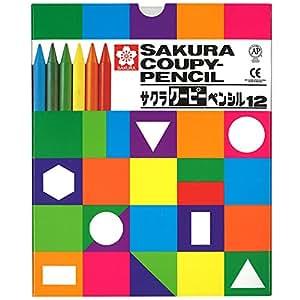 サクラクレパス クーピーペンシル 12色 FY12K 紙箱入