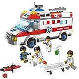 LEGO レゴ シティ 互換 Ambulance 救急車 救急救命士 ドクター ナース ミニフィグ付き