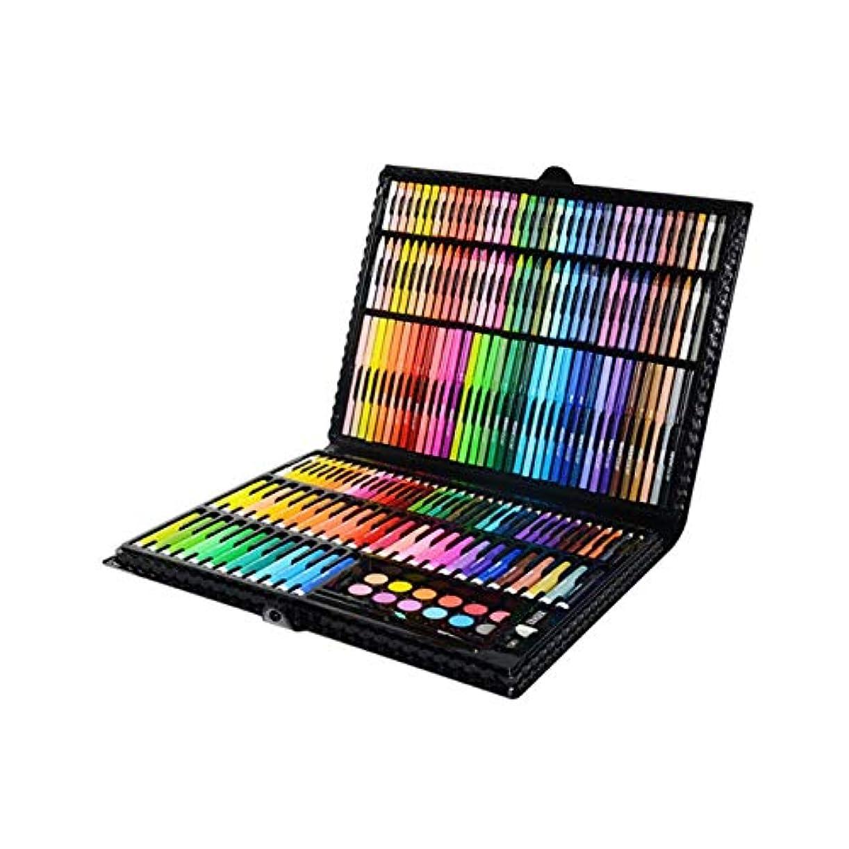 翻訳者飼料下るWuhuizhenjingxiaobu001 ペイントブラシ、学生用ブラシセット202色の36色塗装セット、環境にやさしい素材を使用して練習用の塗装セットを作成(202個36色、39 * 5 * 29cm) 良い着色効果 (Color : Black, Size : 39*5*29cm)