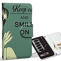 スマコレ ploom TECH プルームテック 専用 レザーケース 手帳型 タバコ ケース カバー 合皮 ケース カバー 収納 プルームケース デザイン 革 ユニーク イラスト 人物 文字 グリーン 008273