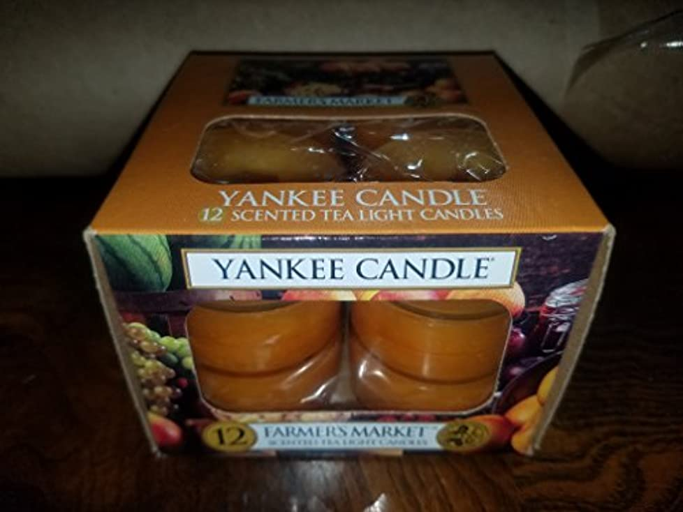 瞑想する呼び出すダムYankee Candle Farmer 's Market, Food & Spice香り Tea Light Candles オレンジ 1163587-YC