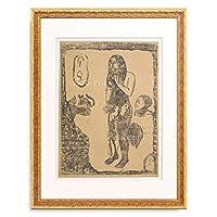 ポール・ゴーギャン Eugene Henri Paul Gauguin 「Eve, ca. 1898-1899.」 額装アート作品