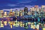 1000ピース めざせ!パズルの達人 バンクーバー夜景-カナダ (50x75cm)