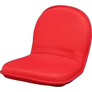 座椅子 リクライニング アイリスオーヤマ フロアチェア ZC-1 レッド ZC-1