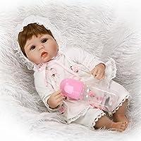 scdoll Reborn Toddlers人形、16インチ40 cm Lifelike Vinylシリコン新生児赤ちゃん人形青い目Play Houseおもちゃwithピンクヘッドバンドクリエイティブギフト