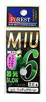 フォレスト(FOREST) ルアー MIU(ミュー)第16弾 2.8g №09 マッディグリーン スプーン