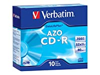 Verbatim DataLifePlus - 10 x CD-R - 700 MB ( 80min ) 52x - slim jewel case