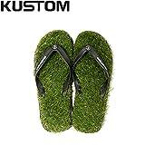 KUSTOM FOOTWEAR カスタム2015春夏 KEEP ON THE GRASS メンズビーチサンダル ビーサン GRN 26cm