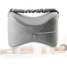 Knee Pillow Sciatica Relief, Back Pain, Leg Pain, Pregnancy, Hip Joint Pain - Memory Foam Wedge Contour Orthopedic Knee Pillow
