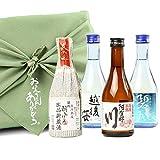 父の日 お酒 日本酒 飲み比べ 各地の飲みきりサイズ のみくらべセット お父さんありがとう風呂敷包み