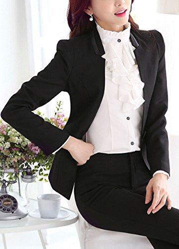 [해외]Heaven Days (헤븐 데이즈) 바지 정장 상하 2 종 세트 블랙 기본 오피스 비즈니스 취업 활동 세미 정장 여성 1708N1096/Heaven Days (Heaven Days) Pants suit upper and lower two sets black basic office business job hunting semi formal ladie...