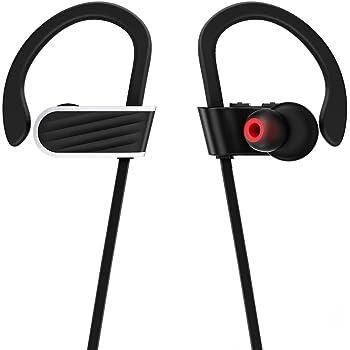 Bluetooth イヤホン スポーツ ワイヤレスイヤホン IPX7防水 両耳 ブルートゥース ハンズフリー 通話 音楽 高音質 ランニング iPhone Android各種対応 (ブラック)