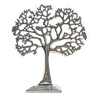 オブジェ 置物 置き物 珊瑚をモチーフにしたアルミニウムのオブジェ シルバー色 銀色 金属製 アジアン雑貨 バリ雑貨 木 ツリー モチーフ 店舗装飾