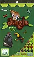 """ステッカーの本 9-1/2""""× 6""""-ジャングル動物 600"""