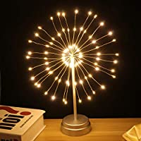 Uonlytech 2本花火デスクライト96 LED装飾銅光ワイヤーライト結婚式の装飾用(暖かいライト、バッテリーなし)