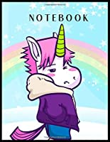 Notebook: Magical Unicorn Dream Come True Notebook Composition Blank Lined Themed Planner 8.5 x 11 Inches 110 Pages Cute Unicorn Kawaii Lovely for Learning Professional Business
